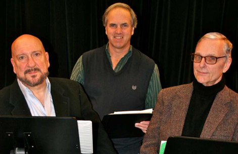 Keir Dullea and Actor Tom Zingarelli rehearse for A Small World at The Fairfield County Playhouse